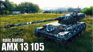 AMX 13 105 SKILL лучший бой на ЛТ World of Tanks