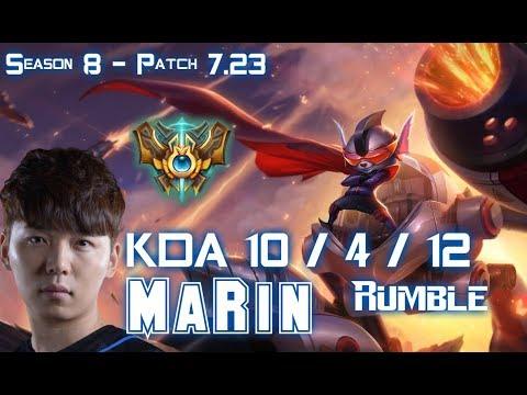 MaRin RUMBLE vs JAX Top - Patch 7.23 KR Ranked