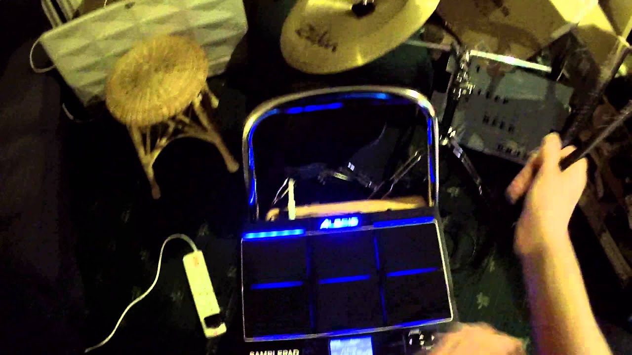 New toy! Alesis sample pad pro. - YouTube