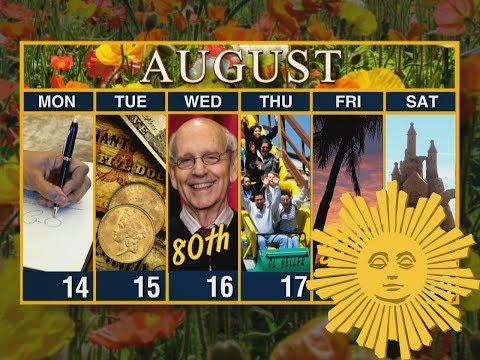 Calendar: Week of August 13