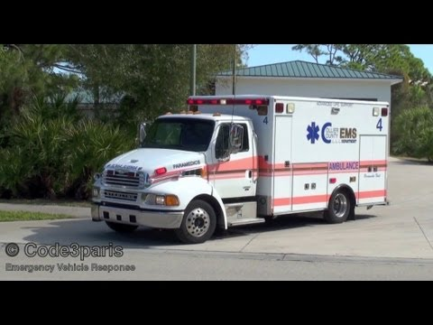Collier County Ambulance 4 + North Naples Fire Dept. Engine 44