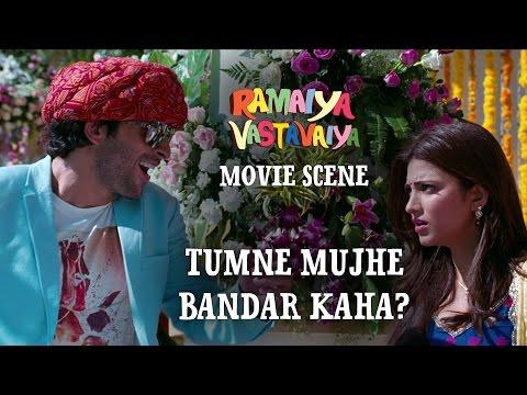Tumne Mujhe Bandar Kaha? - Ramaiya Vastavaiya Scene - Girish & Shruti