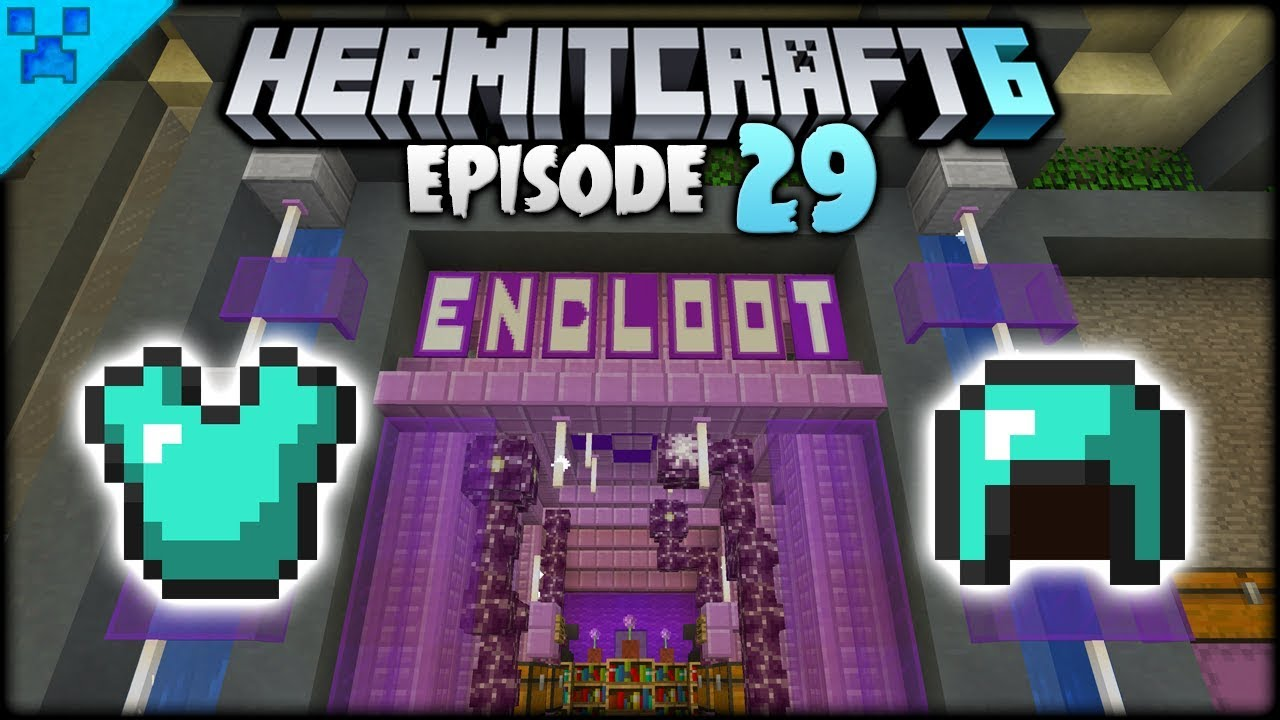 The Minecraft End City Loot Shop Hermitcraft 6 Minecraft Survival Let S Play Episode 29 Youtube
