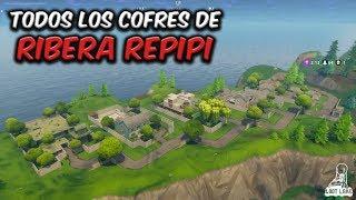 TODOS LOS COFRES DE RIBERA REPIPI (SNOBBY SHORES) - FORTNITE BATTLE ROYALE