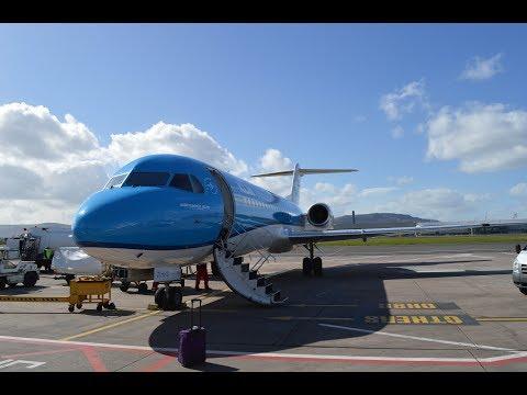BEST FLIGHT EVER!! - Tripreport! KLM Cityhopper (Economy Comfort) Fokker 70! Amsterdam-Belfast