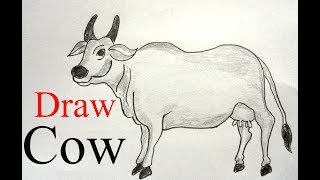 How to draw a cow step by step ||very easy||