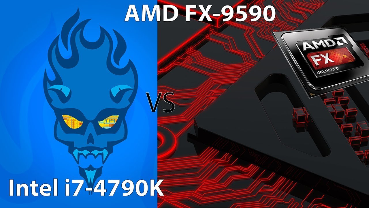 Amd Fx 9590 Vs Intel I7 4790k Benchmarks And Gaming Tests Youtube