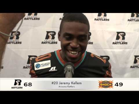 3-23-14, Rattlers Vs. Shock Post Game; Nick Davila & Jeremy Kellem