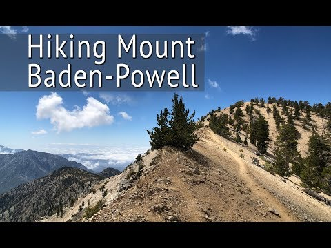 Hiking Mt Baden-Powell in the San Gabriel Mountains