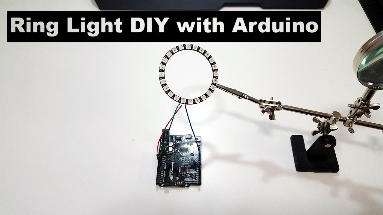 Diy Ring Light With Arduino And Neopixel From Adafruit By Novaspirit Color Changing Night Attiny Using Use For