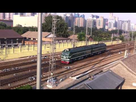 Chinese Railway DF10F locomotive Entering Beijing Railway Station