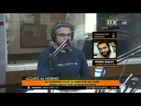 Pedro Biscay (ex-director BCRA) en el #AzzaroAlHorno con Flavio Azzaro