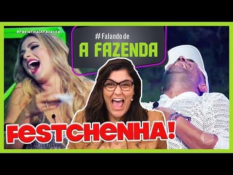 """🔴COMENTANDO a ÚLTIMA FESTA de """"A FAZENDA 10"""": NADJA PROVOCA, MAS É IGNORADA"""