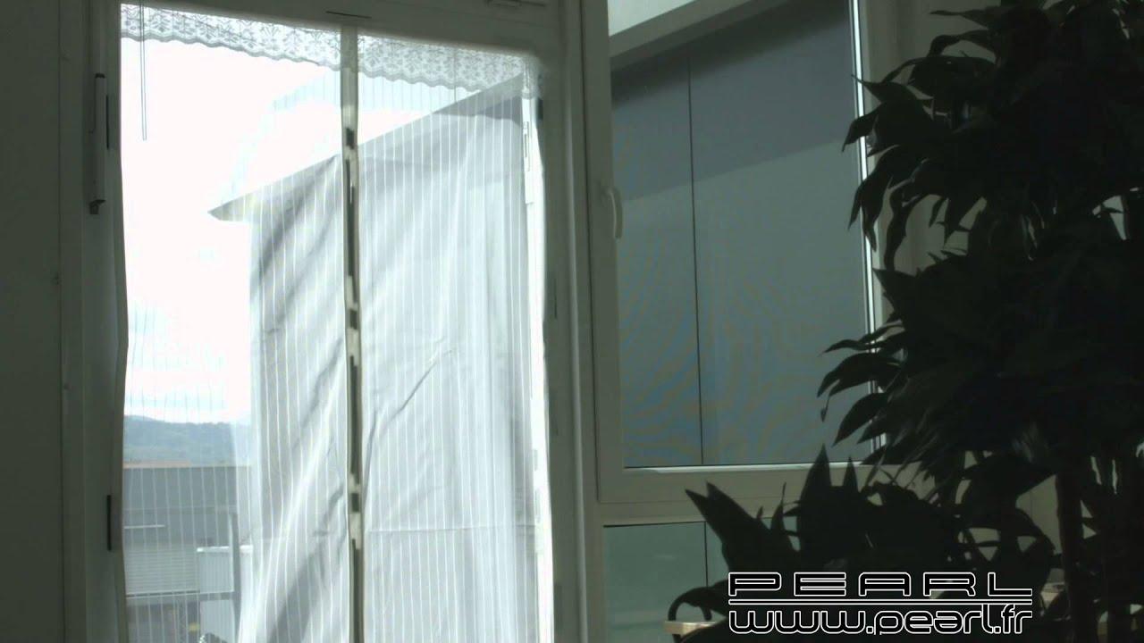 Nc8847 Moustiquaire Pour Porte Avec Fermeture Magnétique Youtube