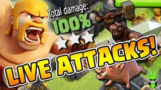 LIVE WAR ATTACKS! - 10v11, TH9 Triple, Live Fail & TH8 Triple! - Clash of Clans - War Strategies