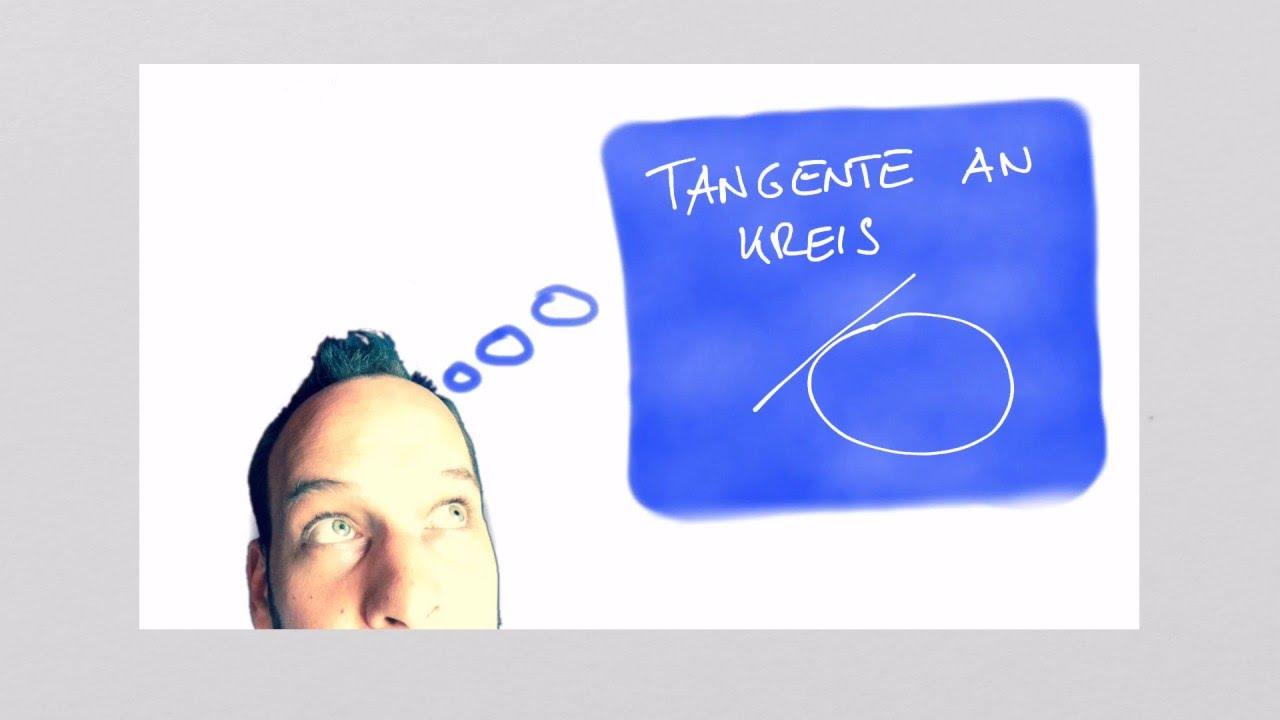 Tangente an Kreis mit Berührpunkt Vektorrechnung - YouTube