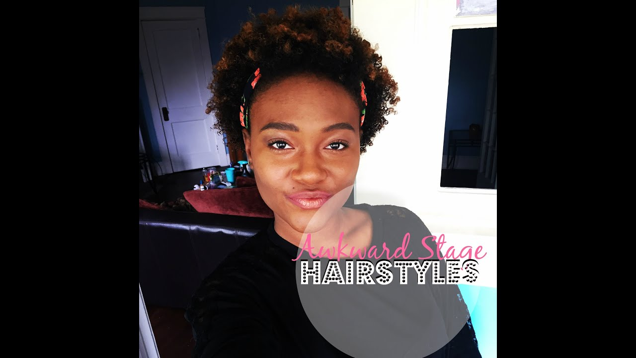 Natural Hair Hairstyles THE AWKWARD STAGE #TaiLand YouTube