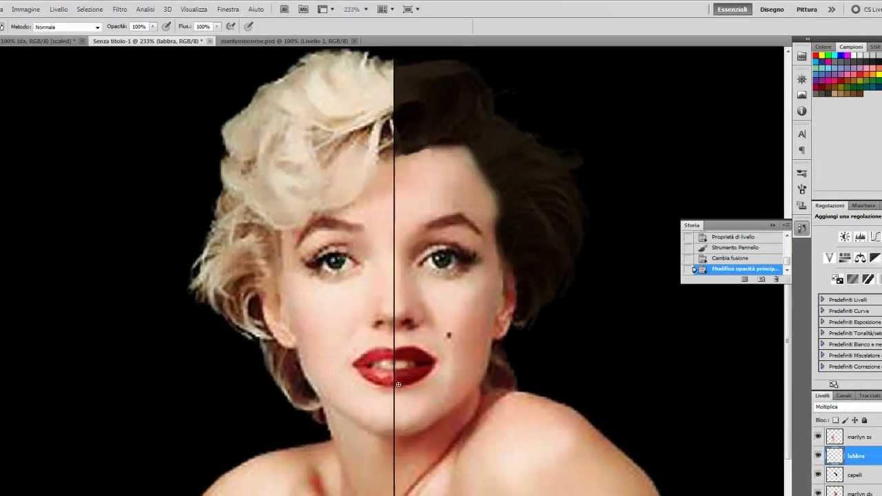 Photoshop cs2 andy warhol style prints.