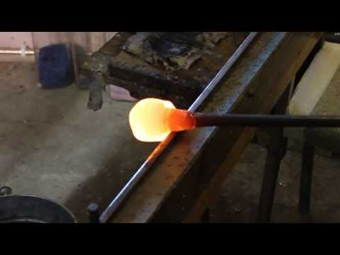 Glass Blowing - Blue Glass Plate