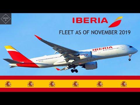 Iberia fleet as of November 2019