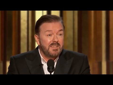 Ricky Gervais Savages Hollywood at the Golden Globes 2020