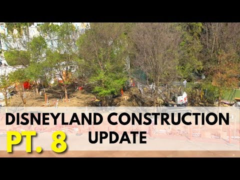Disneyland Construction update - So many trees! | 03/17/18 pt 8