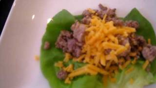 Beef & Turkey Tacos Wrapped In Lettuce Leaves