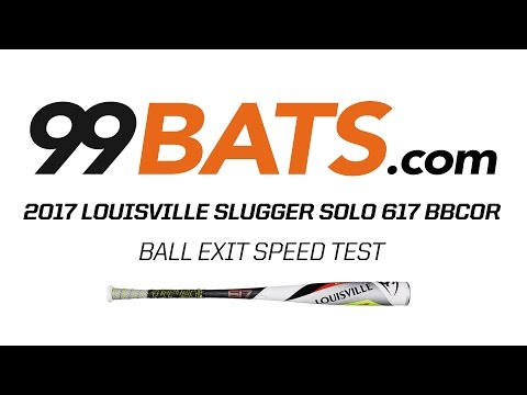 2017 Louisville Slugger SOLO 617 BBCOR  Ball Exit Speed Test