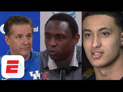 Coaches and players react compilation on FBI investigation into college basketball scandal | ESPN