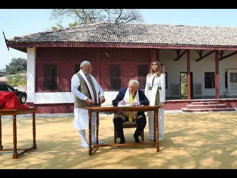 PM Shri Narendra Modi Welcomes US President Trump In Ahmedabad, Gujarat