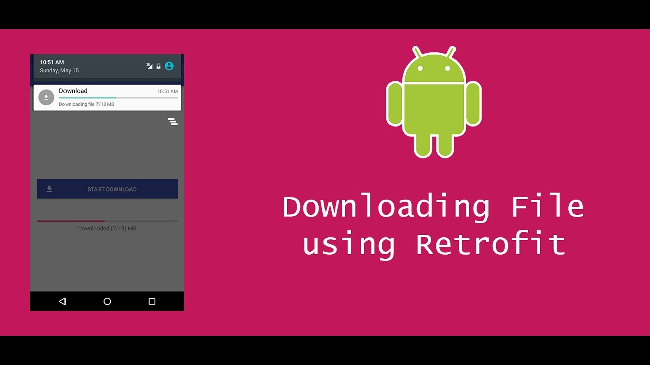 Android downloading file using Retrofit with Progress