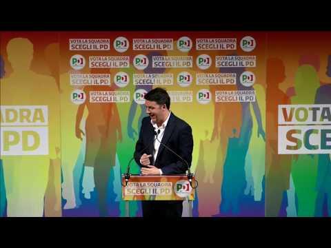 """""""Vota la squadra. Scegli il PD"""". Matteo Renzi con i candidati alla Camera e al Senato"""