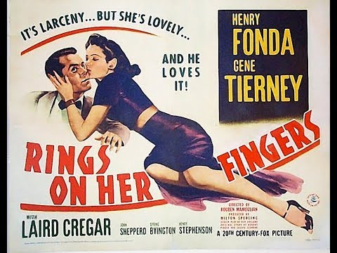 Комедия  Кольца на ее пальцах 1942 Henry Fonda Gene Tierney Laird Cregar
