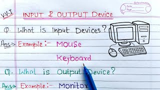 Input & Output devices of computer | Learn Coding