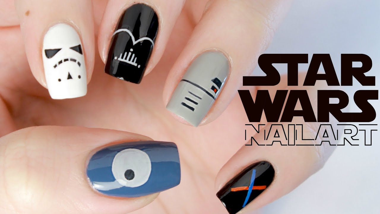 Minimalist Star Wars Nail Art - YouTube