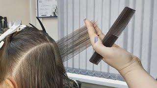 Градуированный Боб Каре Стрижка на среднюю длину волос Bob Short women Haircut Тонирование