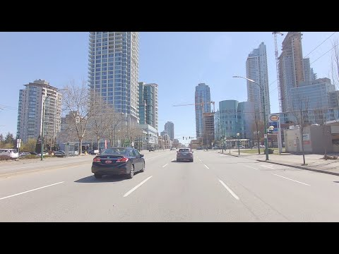 Burnaby BC Canada. Driving In The City. Tour Of Great Vancouver Area.