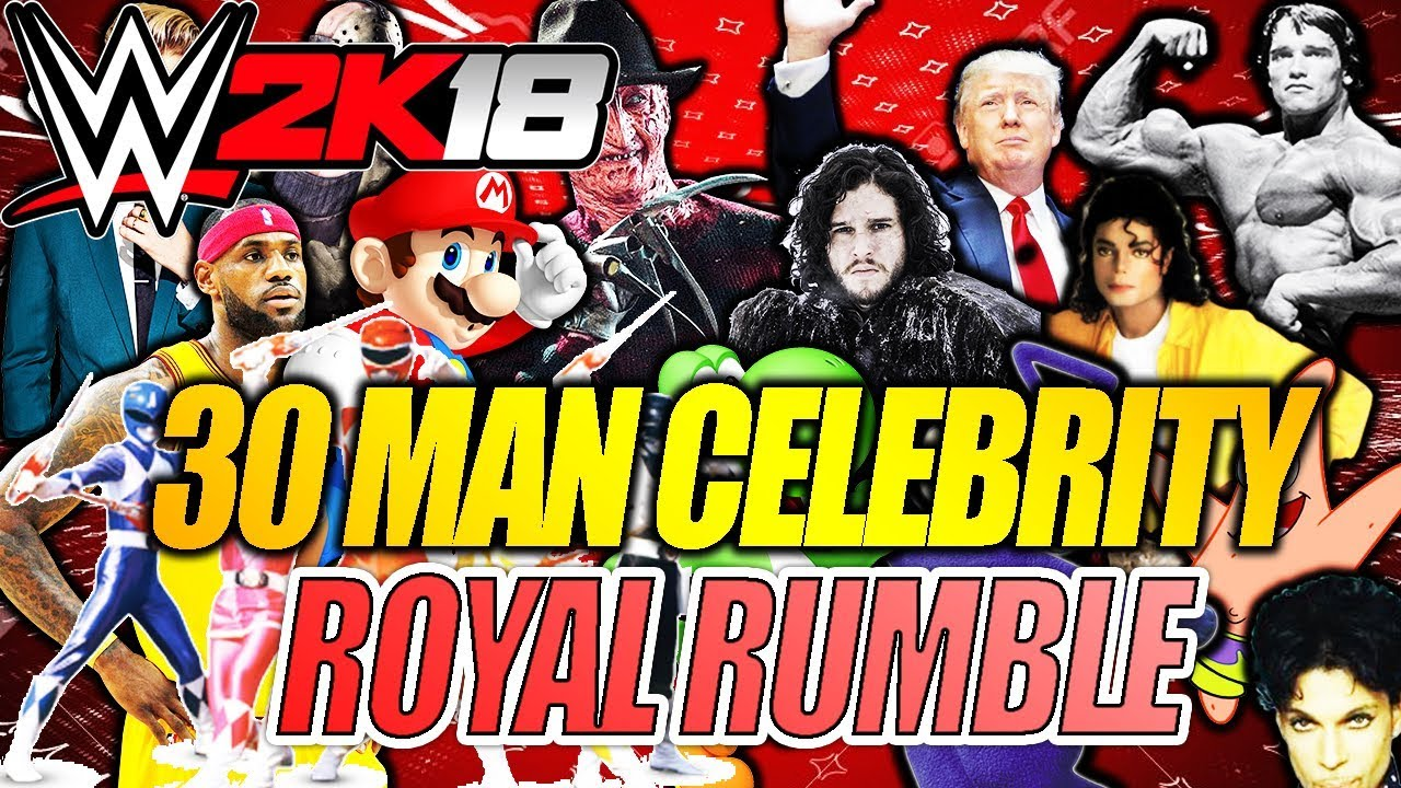 WWE 2K16 FULL 30-Man CELEBRITY Royal Rumble ... - YouTube