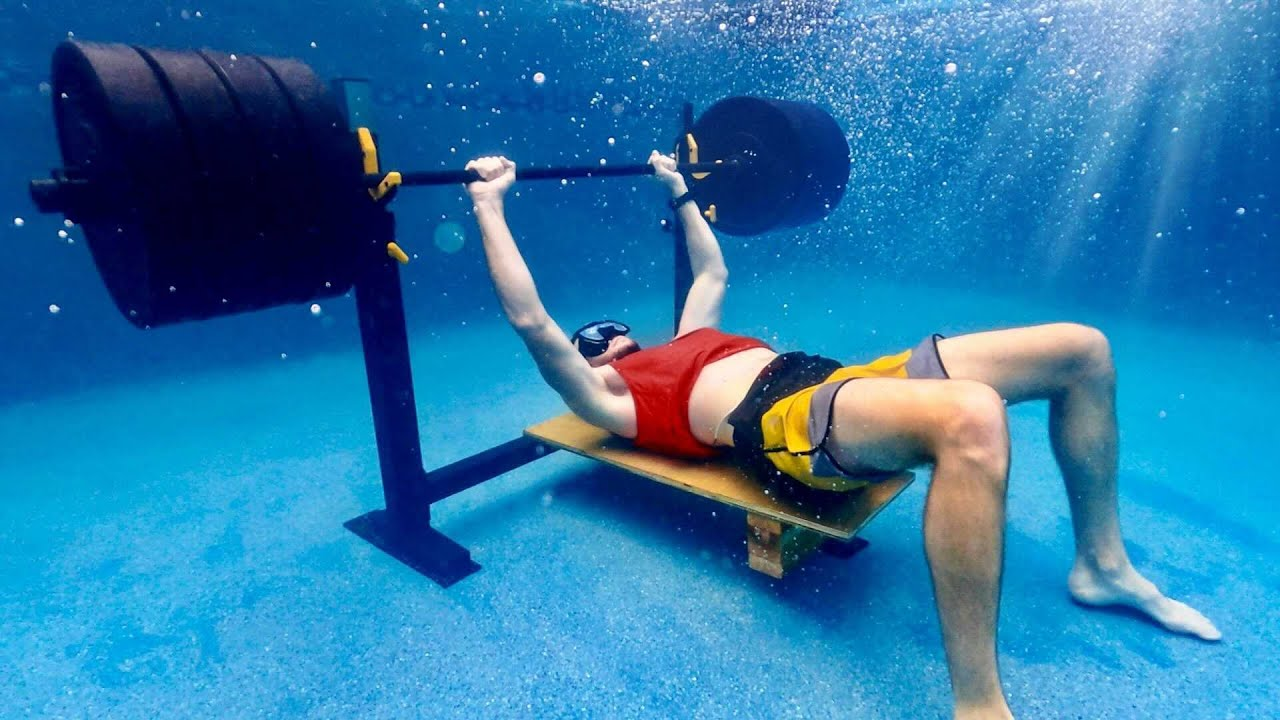 Trying to Bench 405 lbs Underwater | OT 28
