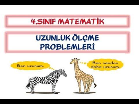4.Sınıf Uzunluk Ölçme Problemleri ve Çözümleri