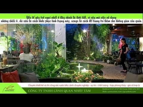 Hướng dẫn trang trí quán cafe sân vườn