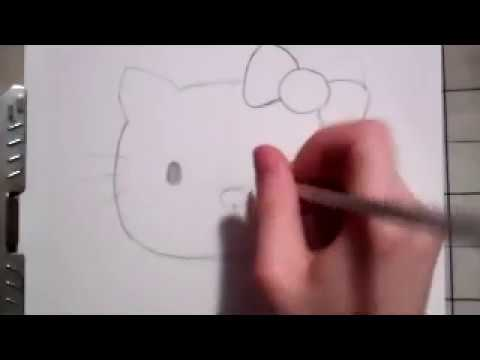 how to draw hello kitty youtube - Hello Kitty Pictures To Draw