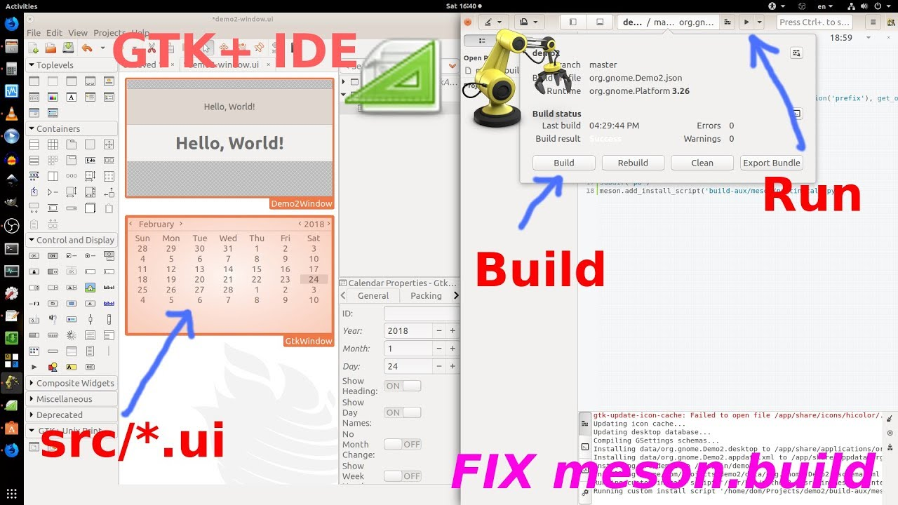 GTK+ Developer: GNOME Builder IDE and Glade UI