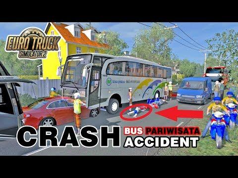 Yang Ga Kuat Jangan Tonton Video Ini !!! Crash Accident Bus Pariwisata - 동영상