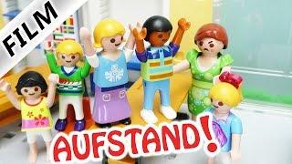 Playmobil Film Deutsch - AUFSTAND IN DER SCHULE! HANNAH VON DER SCHULE GESCHMISSEN? Familie Vogel
