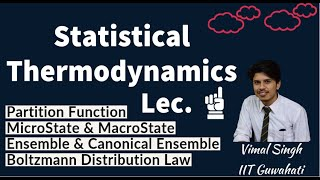 Statistical Thermodynamics Partition Function Microstate Macrostate Ensemble Boltzmann Distribution