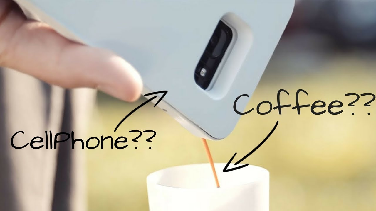 MOKASE | Your mobile phone cover makes even coffee!