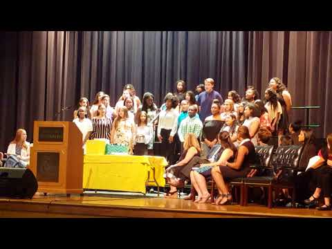 Falling Creek Middle School choir count on me eight grade graduation Omarion Davis.