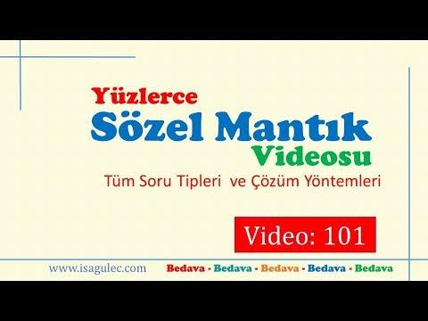 İsa GÜLEÇ - SÖZEL MANTIK / VİDEO-101 / KPSS-DGS-ALES-YKS SAYISAL MANTIK –MATEMATİK