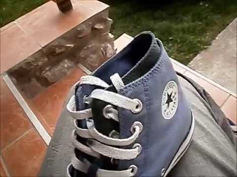 7697b5591b5e72 My new Converse blue green double upper shoes - YouTube